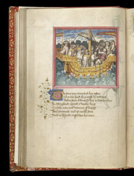 King Offa Sailing To The Holy Land, In John Lydgate's 'The Lives Of Sts. Edmund And Fremund'